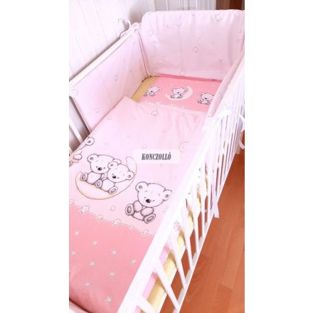 Baba ágynemű szett rózsaszín maci 1