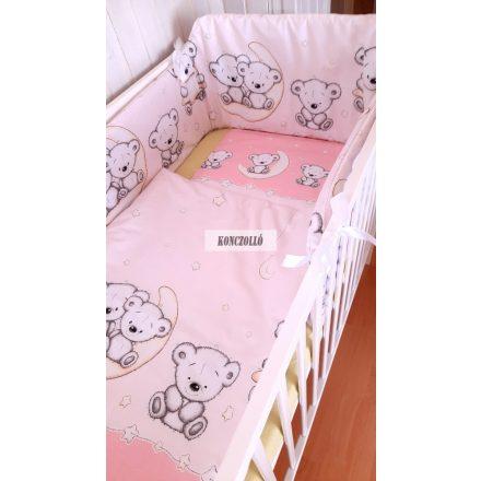 Baba ágynemű szett rózsaszín maci 2