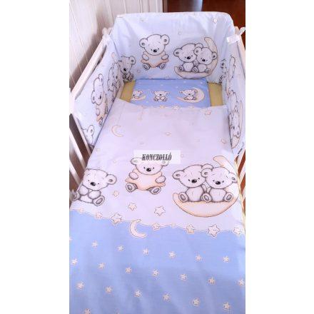Baba ágynemű szett kék  maci 2