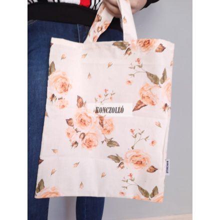 100 % pamut anyagból,bevásárló táska,rózsa